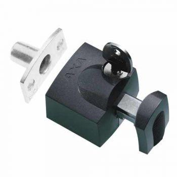 AXA veiligheids raam oplegslot  3012, antraciet met cilinderslot buitendraaiend, SKG*®