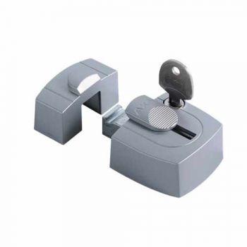 AXA veiligheids raam oplegslot  3015, zilver met cilinderslot binnendraaiend, SKG*®