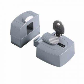 AXA veiligheids raam oplegslot  3015 tbv opdek, zilver met cilinderslot binnendraaiend, SKG*®