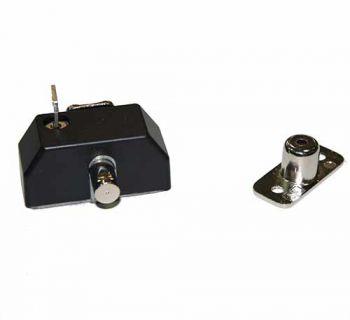 Veiligheids raam oplegslot Black-Line, zwart met cilinderslot buitendraaiend SKG*®