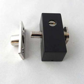 Oplegslot met cilinder SKG* zwart, buitendraaiend