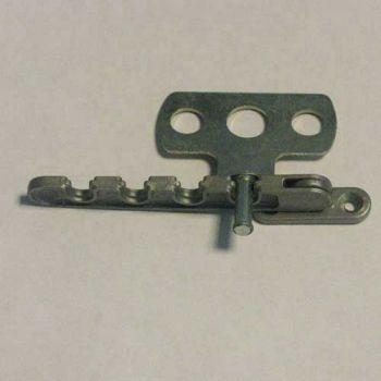 4 standen kierstandouder tbv draaival ramen, zilver-grijs